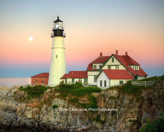 Portland Head Lighthouse Moonrise