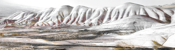 Painted Hills Winter Blanket - Panoramic