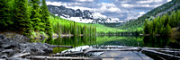 Strawberry Lake Reflections - Panoramic
