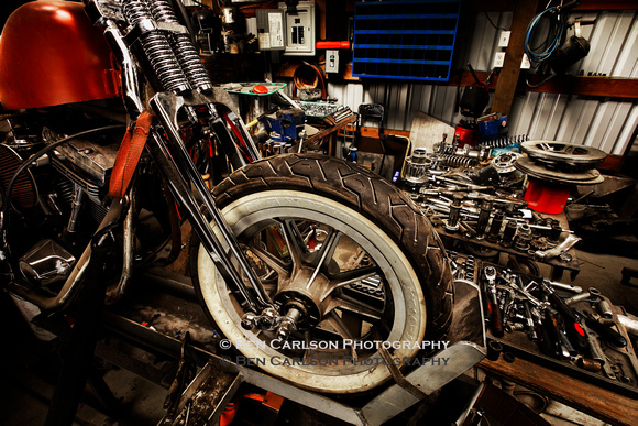 Red Motorcycle Repair